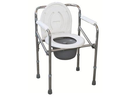 Folding Steel Commode Chair